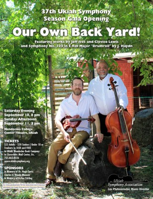 "Ukiah Symphony presents ""Our Own Back Yard"""