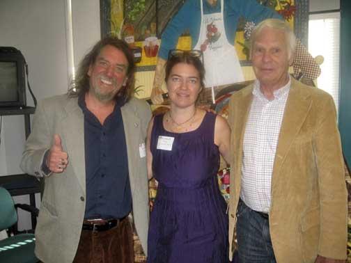 Left to Right: David 'Sus' Susalla (Gualala Arts), Alyssum Wier (ACMC), Dave Bower (Gualala Arts)