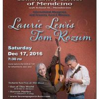 Concert with Laurie Lewis and Tom Rozum