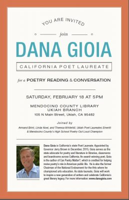 Poetry Reading featuring Dana Gioia, Poet Laureate of California