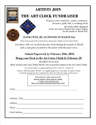 Spring Ahead with Art Clock Fundraiser