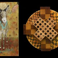 """""""eXplorations:Taking the X Out of Anxiety and Other Stories"""" Constructions and paintings by Paula Gray"""