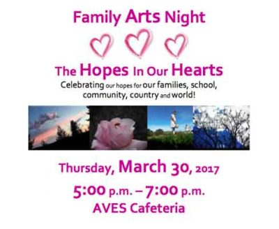 """Family Arts Night """"The Hopes In Our Hearts"""""""