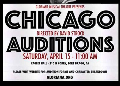 "Gloriana Musical Theatre announces Auditions for ""Chicago"""