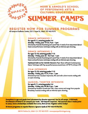 Register for SPACE Summer Camps