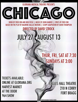 "Gloriana Musical Theatre presents ""CHICAGO"""
