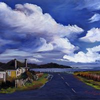 Mariko Irie, watercolors and oils at Highlight Gallery