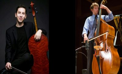 Oliver Herbert, cello, with William Langlie-Miletich, bass