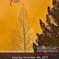 """Mendocino Strong Together"" Redwood Complex Fire Fundraiser"