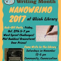 National Novel Writing Month Kick-Off Party