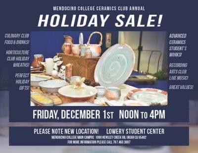 Ceramics Club Annual Holiday Sale