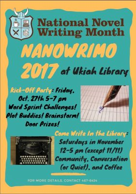 Come Write In-National Novel Writing Month