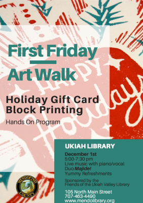 Block Print Holiday Cards & Book Sale