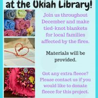 Community Tied-Knot Blanket-Making for Fire Victims