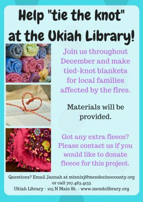 Community Tied-Knot Blanket-Making for Fire Victim...