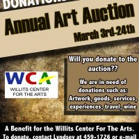 Art Auction Donations and Volunteers Needed