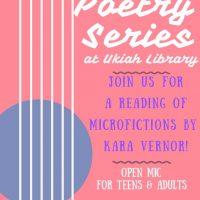 LOBA Reading Series featuring Kara Vernor