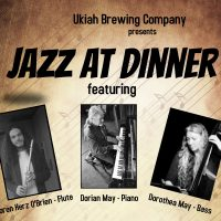 Loren Herz O'Brien, Dorian & Dorothea May at the Ukiah Brewing Co.