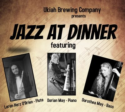Loren Herz O'Brien, Dorian & Dorothea May at the Ukiah Brewing Co.