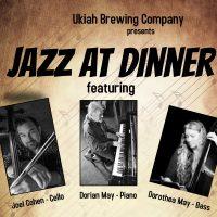 Joel Cohen, Dorian & Dorothea May at the Ukiah Brewing Co.
