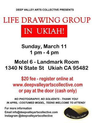 Life Drawing Group in Ukiah