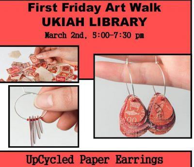 Art walk: Make Upcycled Paper Earrings