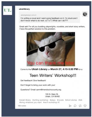 Monthly Teen Writers' Workshop