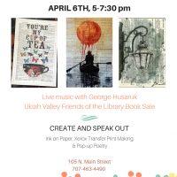 First Friday Art Walk: INK ON PAPER & Spoken Word