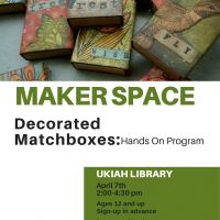 Maker Space: Decorated Matchboxes