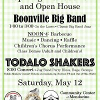 Spring BBQ, Open House, Boonville Big Band, Todalo Shakers