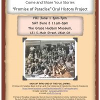 Promise of Paradise: Back to the land oral histories of Mendocino County
