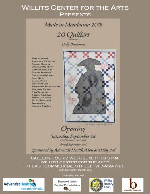 Made in Mendocino. A Quilt Show