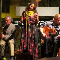 Vocalist Stella Heath and the French Oak Gypsy Band