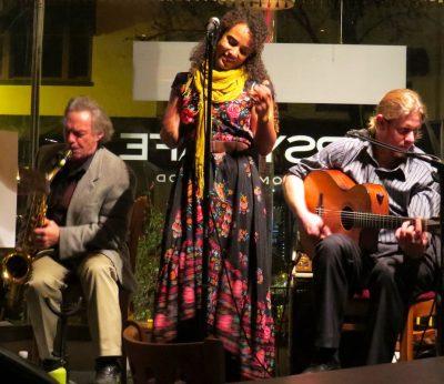 Vocalist Stella Heath and the French Oak Gypsy Band
