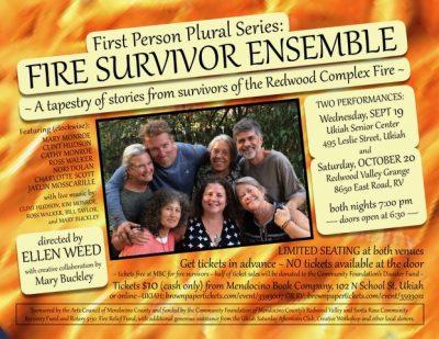 First Person Plural Series: FIRE SURVIVOR ENSEMBLE...