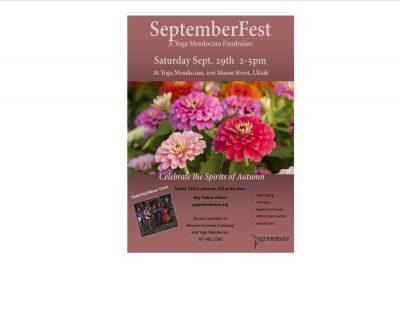SeptemberFest - Yoga Mendocino's Annual Fundraiser...