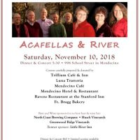 4th Annual Benefit Dinner, Acafellas and River Concert