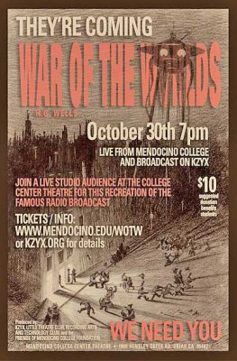 War of the Worlds, a live radio broadcast