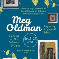 Meg Oldman, Exploring in paper & fabric