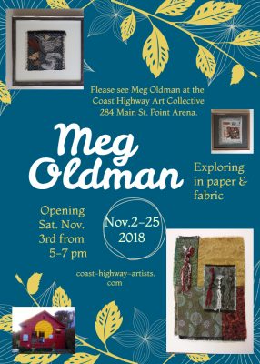Meg Oldman, Exploring in paper & fabric