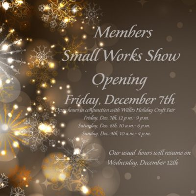 Gallery Opening - Members Small Works Show