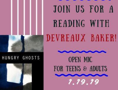 Poetry Reading with Devreaux Baker