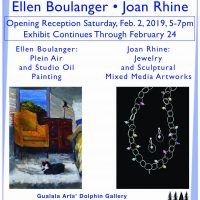 Ellen Boulanger and Joan Rhine at Dolphin Gallery