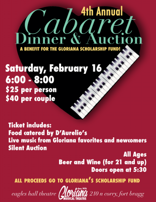 Gloriana's Annual Cabaret Dinner and Auction