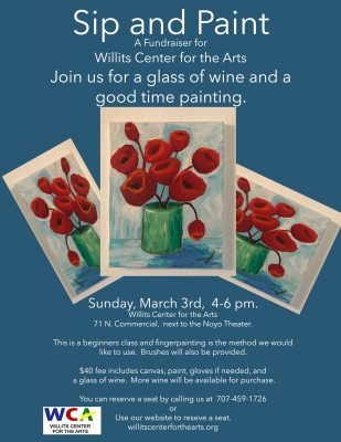 Paint & Sip: A Fundraiser for The Willits Center for the Arts