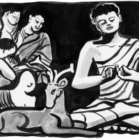 Śākyamuni Buddha: A Story, a series of ceramic reliefs by Lorraine Capparell