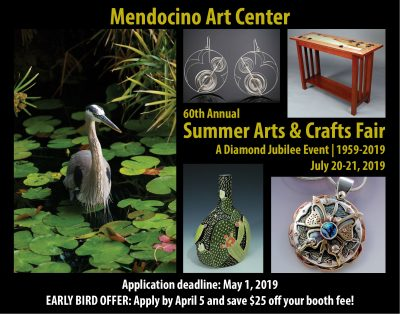 Mendocino Art Center's 60th Annual Summer Arts & Crafts Fair