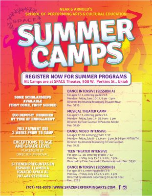 Register for Performing Arts Summer Camps