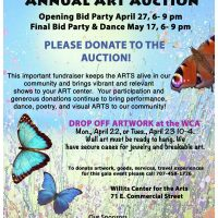 The Willits Center for The Arts Auction: Call to Artists for Donations