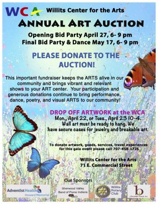 The Willits Center for The Arts Auction: Call to A...